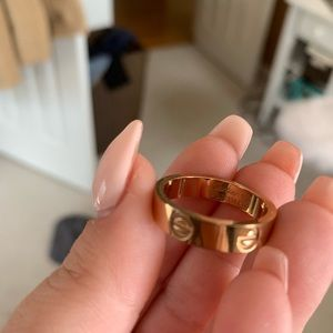 Love ring - rose gold size 8/9